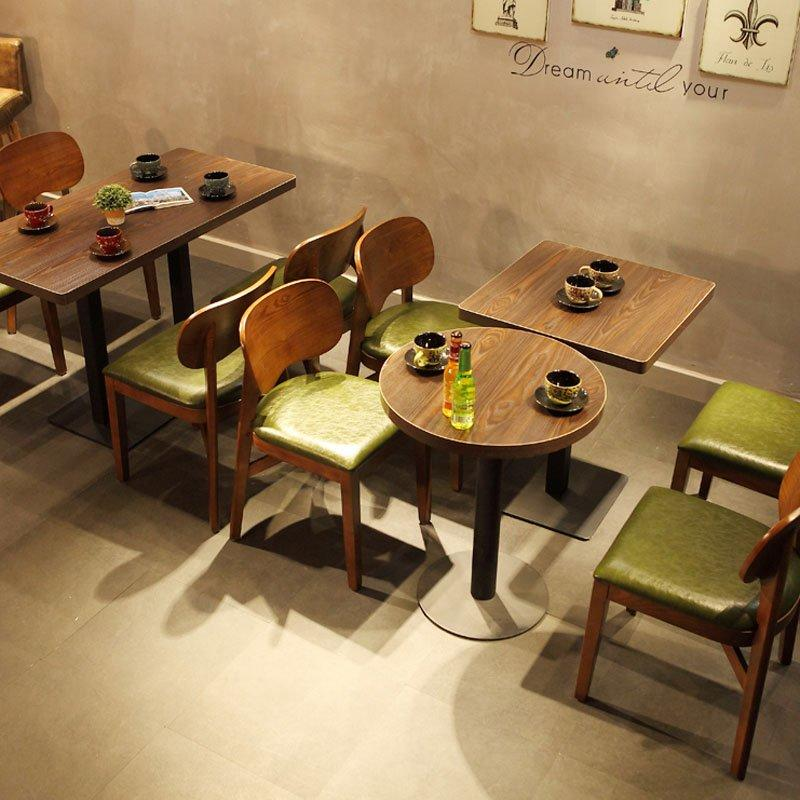 Modern Cafeteria Style Wooden Tables And Chairs GROUP76