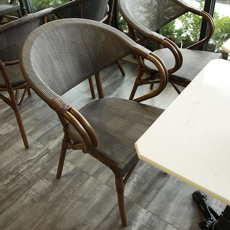 Outdoor Lounge Furniture Rattan Armchair and Table GROUP81