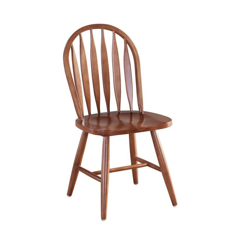 Scandinavian Style Wood Sword Back Windsor Chair CA006
