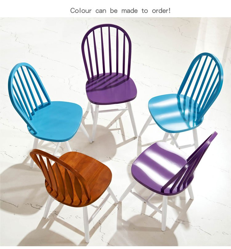 coloured wooden dining chairs