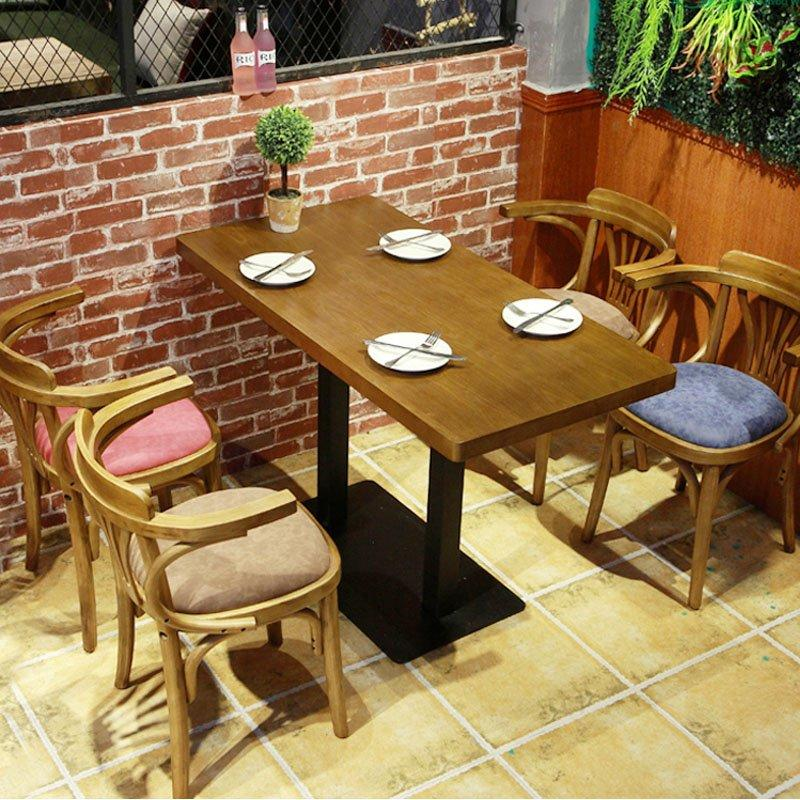 Rustic Cafe Style Wooden Dining Table Chair GROUP84