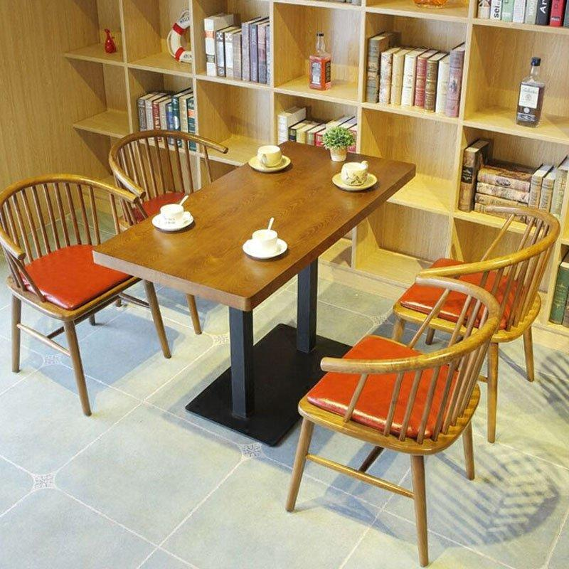 Modern Wooden Cafeteria Style Tables And Windsor Chairs GROUP90