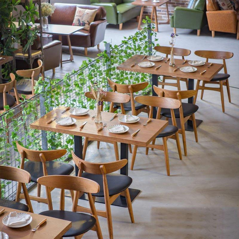 Modern Refectory Wood Table And Carl Hansen Chair GROUP91