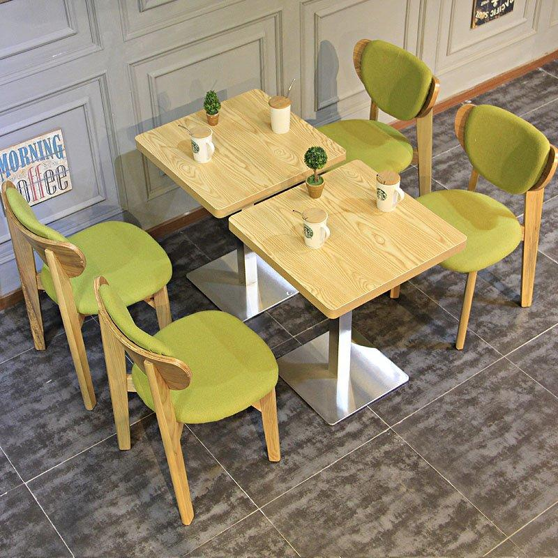 Modern Upholstered Cafe Chairs And Wood Table GROUP97