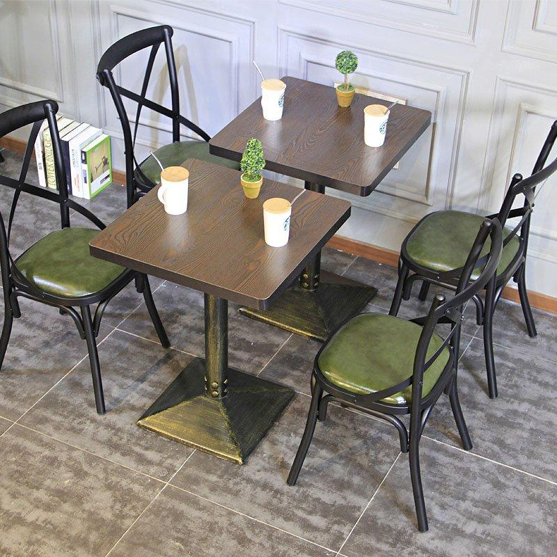 Industrial Restaurant Iron X Back Chair Dining Set GROUP98
