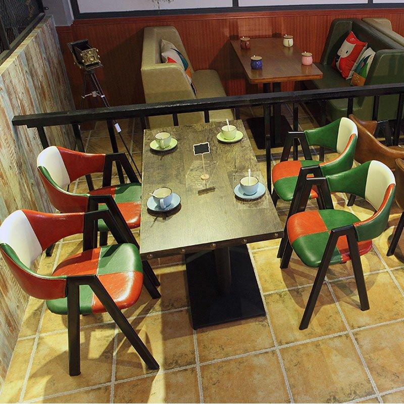 Retro bar room Leather Dining Chairs And Table GROUP103