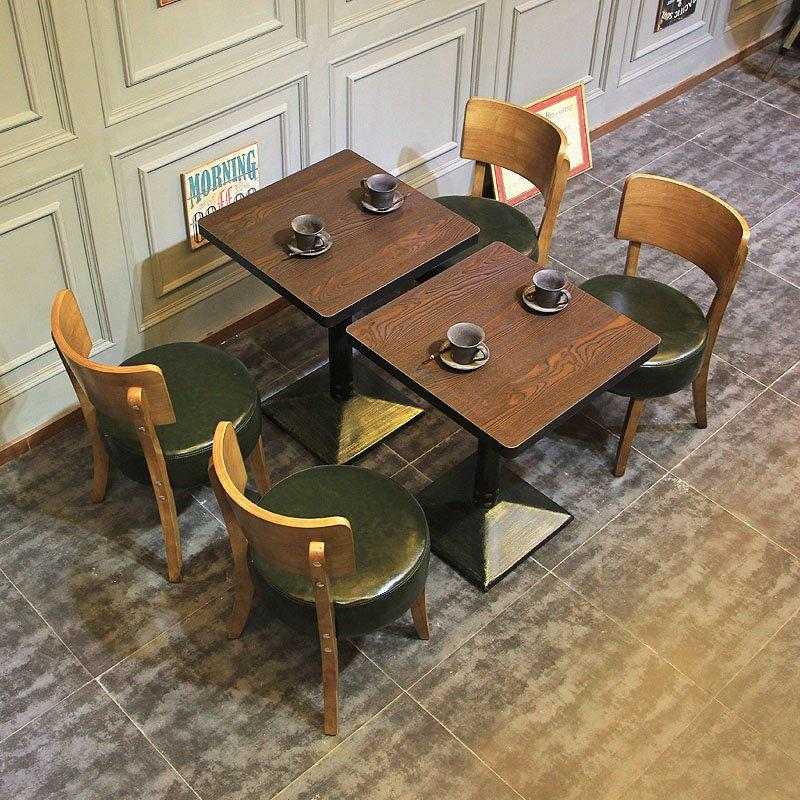 Custom Leather Upholstered Chair And Wooden Table GROUP105