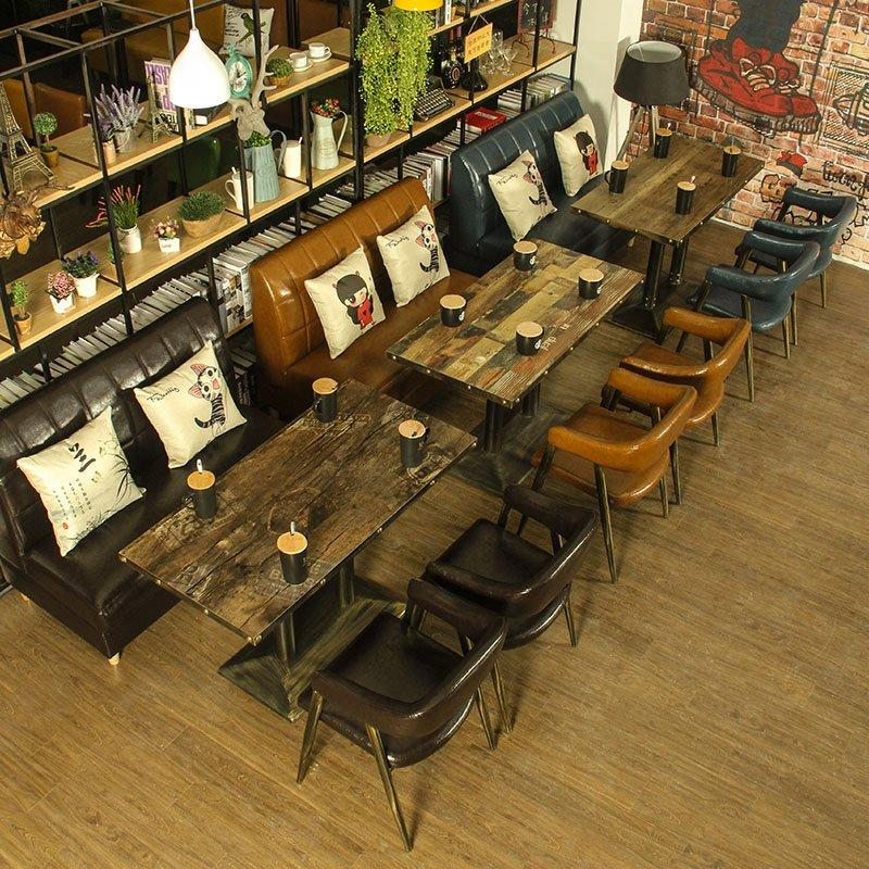 Industrial Metal Furniture Dining Table And Chair GROUP109