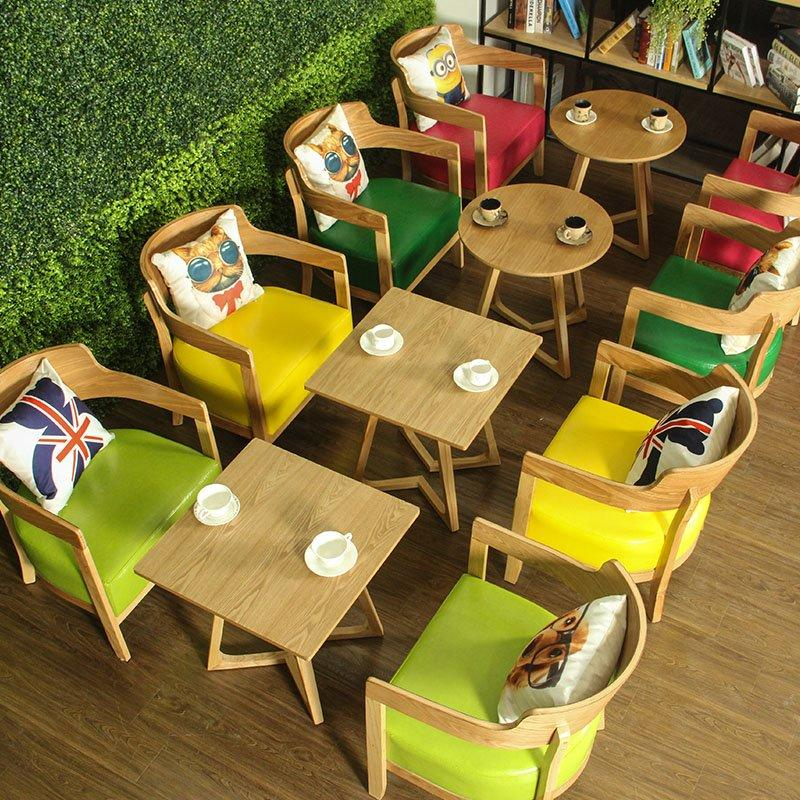 Modern Coffee Shop Lounge Wood Dining Furniture GROUP111