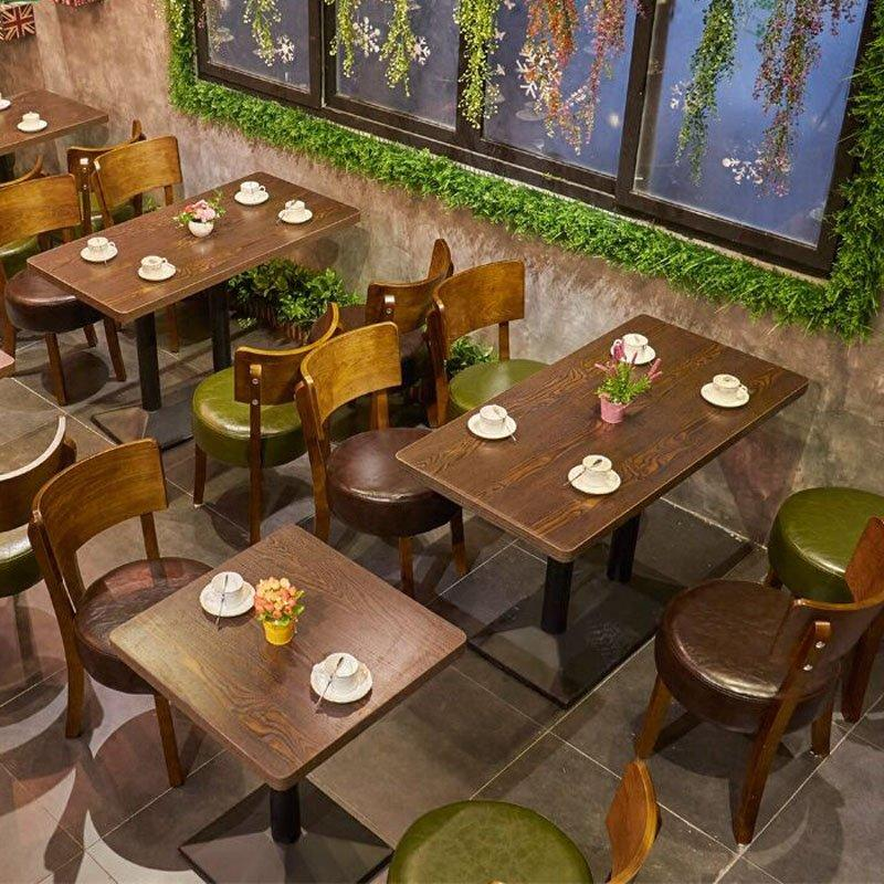 Simple Design Fast Food Restaurant Wood Table Chair GROUP132