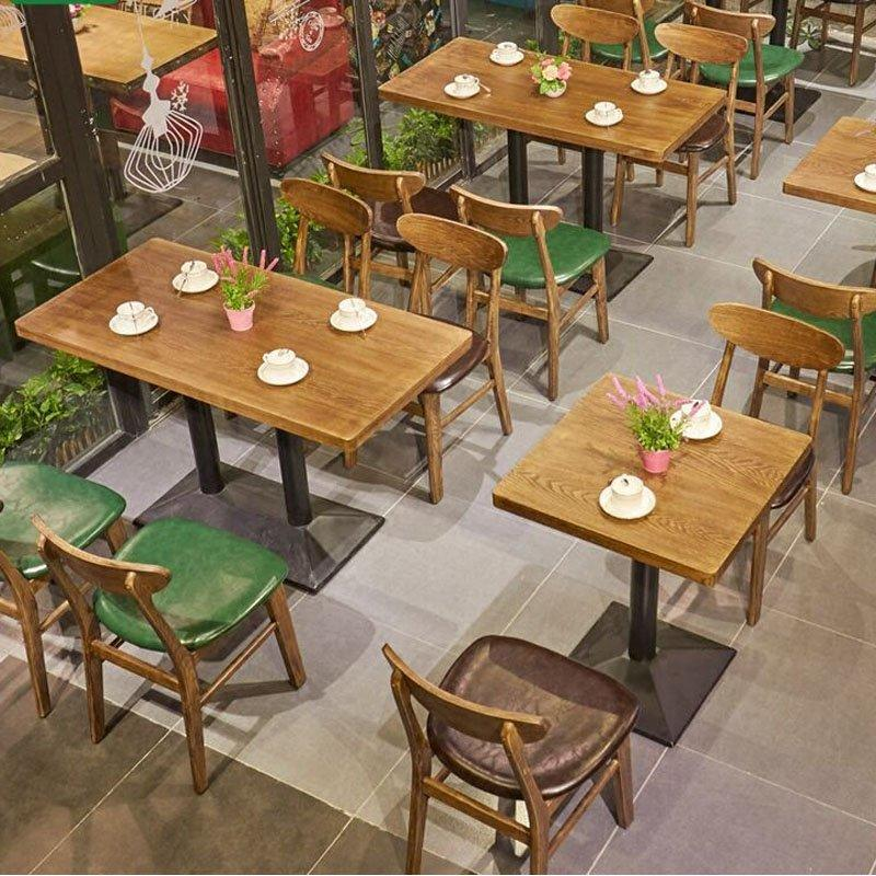 Retro Themed Restaurant Table And Leather Seating GROUP140