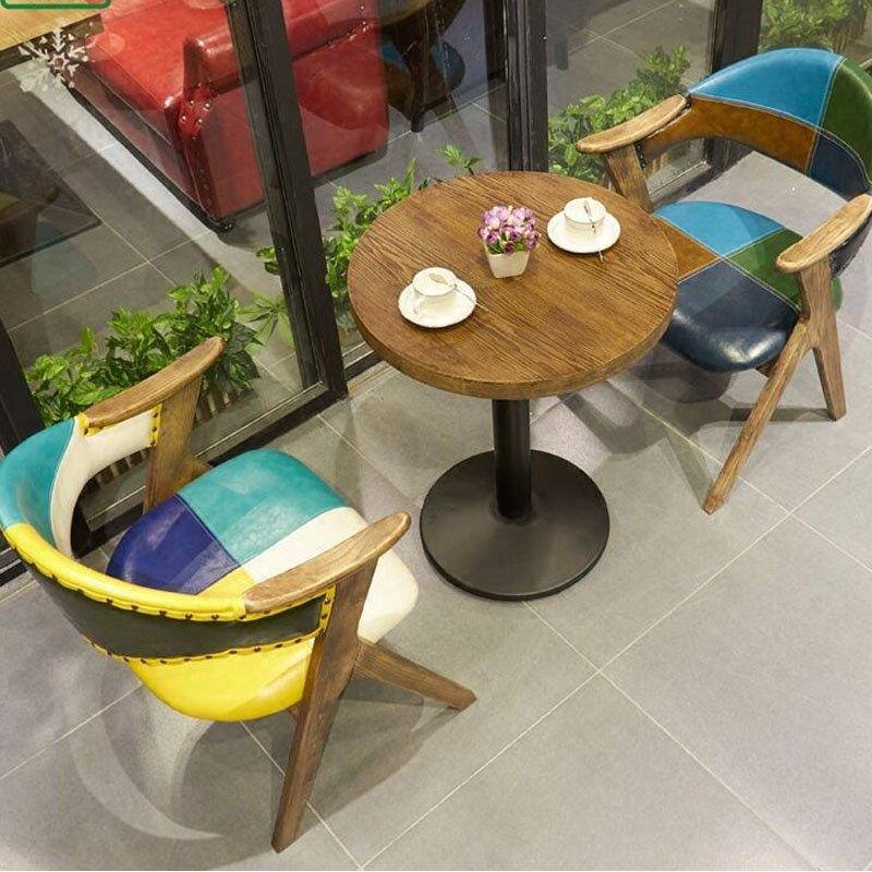 Funky Colorful Leather Armchair Dining Furniture GROUP143