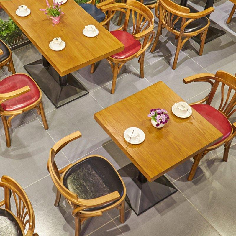 Rustic Wood Dining Set For Restaurant GROUP147
