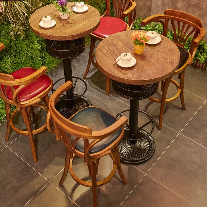 Retro Cafe Bar Dining Table And Chair Sets GROUP167