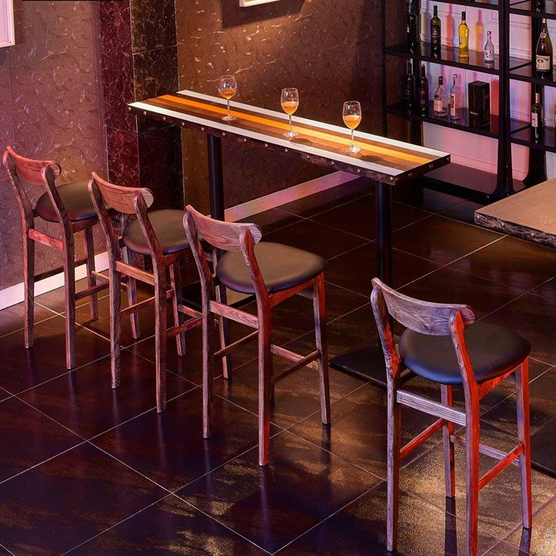 Retro Wooden High Bar Tables And Chairs GROUP168