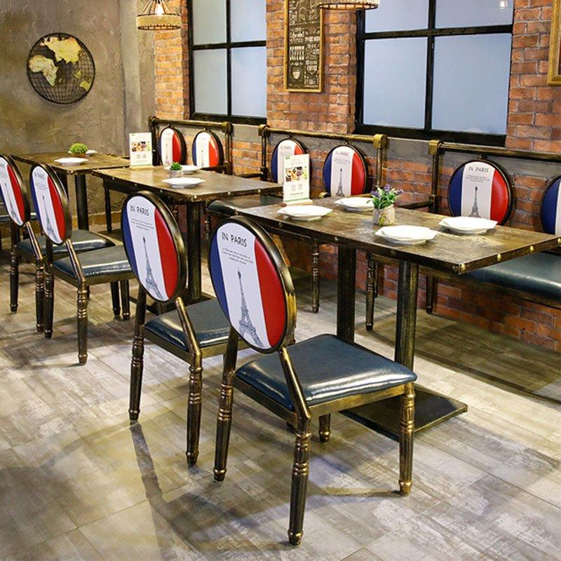 Retro Industrial Restaurant Metal Table And Chair GROUP171