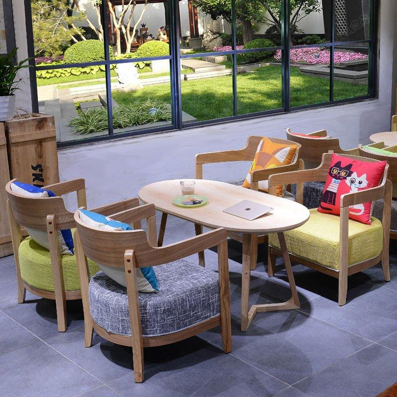 Commercial Lounge Room Wood Coffee Table And Chair GROUP173