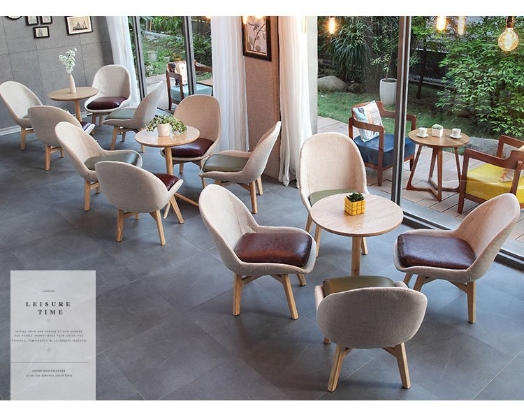 cafe leather chairs