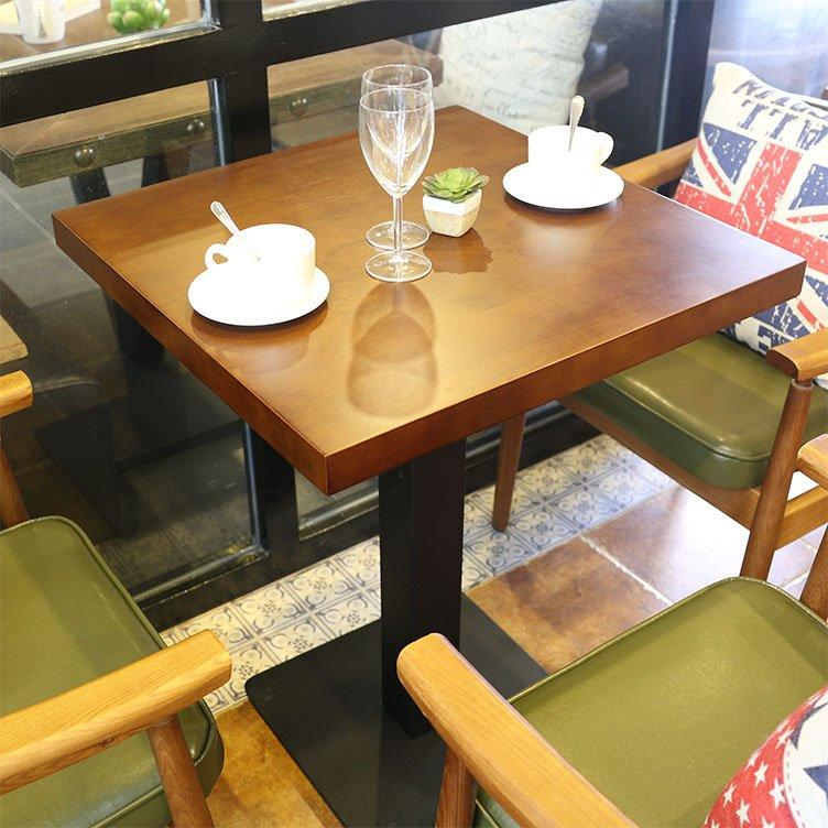 Commercial Leather Upholstered Seating And Wood Table GROUP184