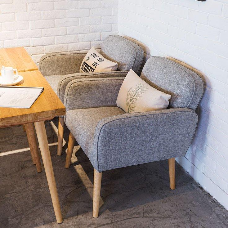 Contemporary Wooden Table And Sofa Chair Design GROUP190