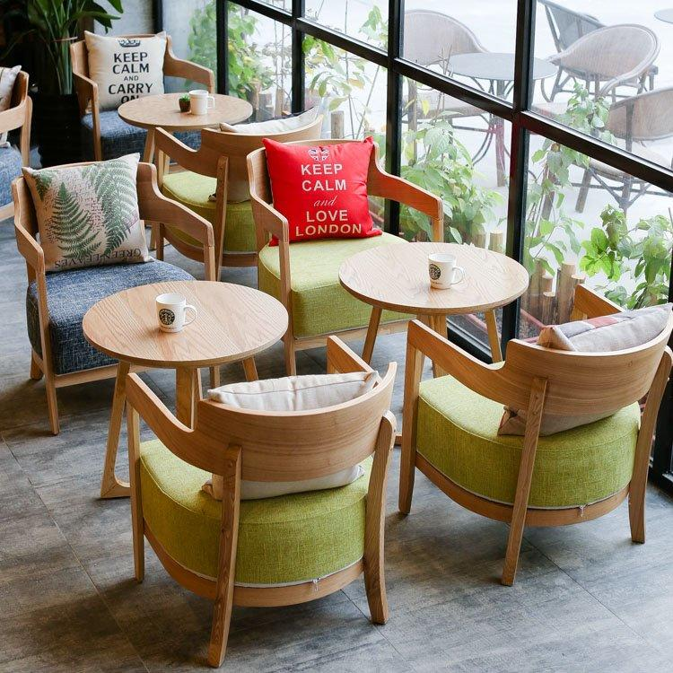 Modern Cafe Furniture Round Table And Leisure Chair GROUP195
