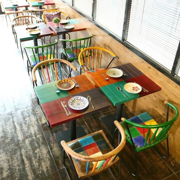 Retro Themed Restaurant Dining Table Chairs GROUP201