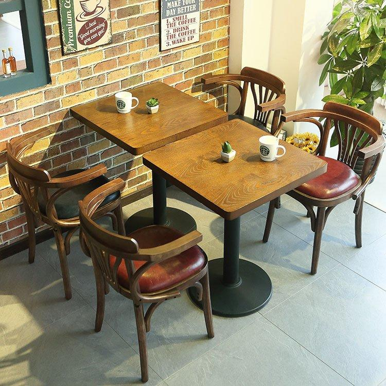 Rustic Coffee Shop Dining Tables And Armchairs GROUP206