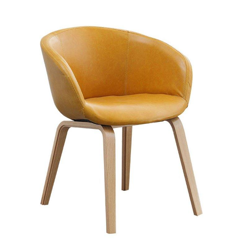 Modern Restaurant Wood Leather Dining Chair CA070
