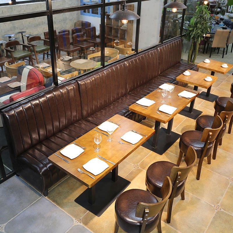 Commercial Banquette Seating And Dining Table SE001-36