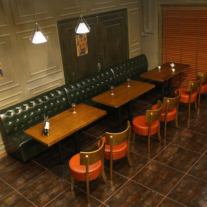 Concise Pub Catering Table And Leather Booths SE001-38