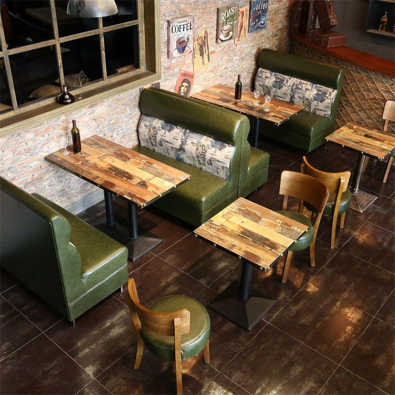 Retro Pub Dining Table With Booth Seating SE001-39
