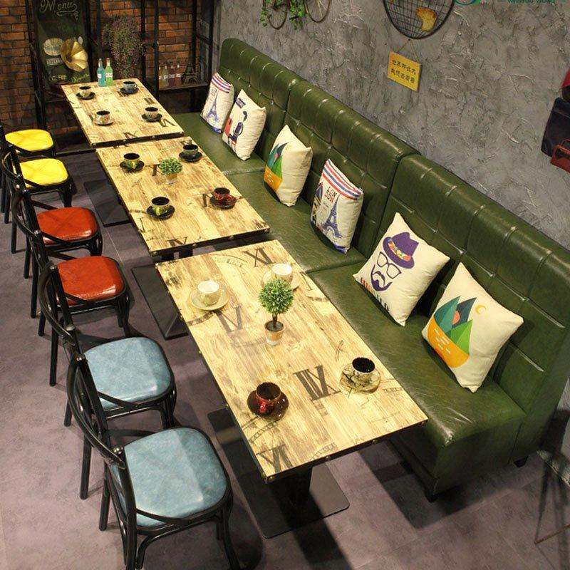 Industrial Restaurant Table And Corner Booth Sofa SE001-41