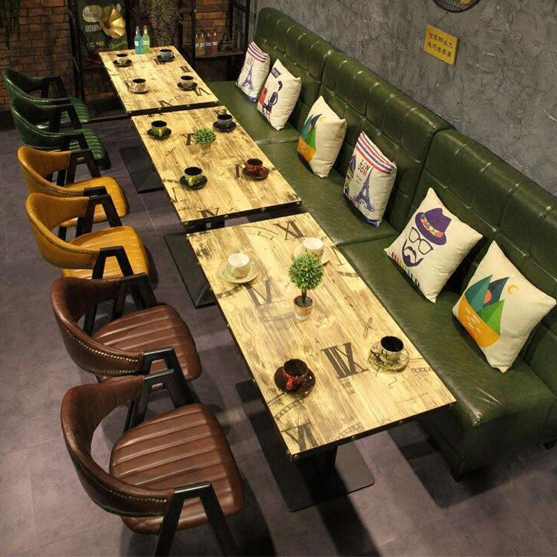 Industrial Dining Table And Cafeteria Booths Sofa SE001-42