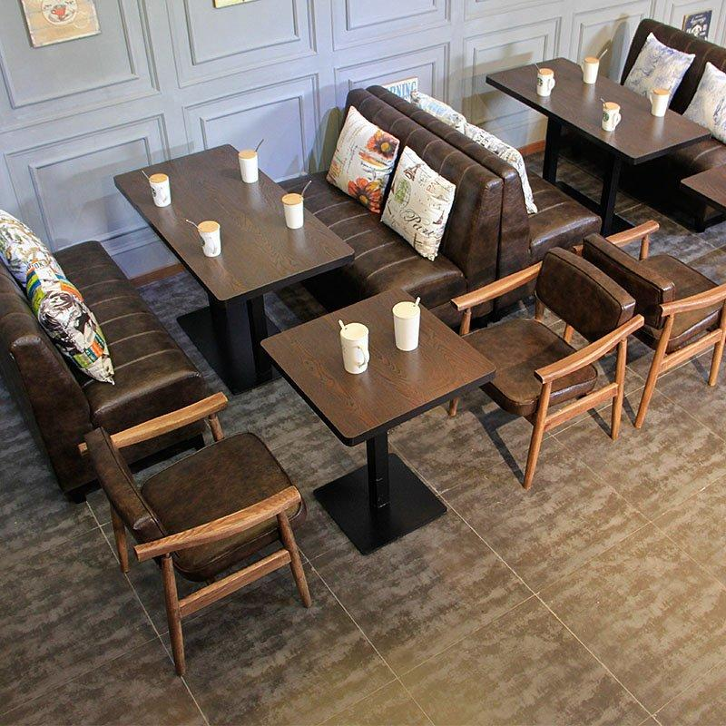 Retro Restaurant Style Booths Sofa And Table Set SE001-45