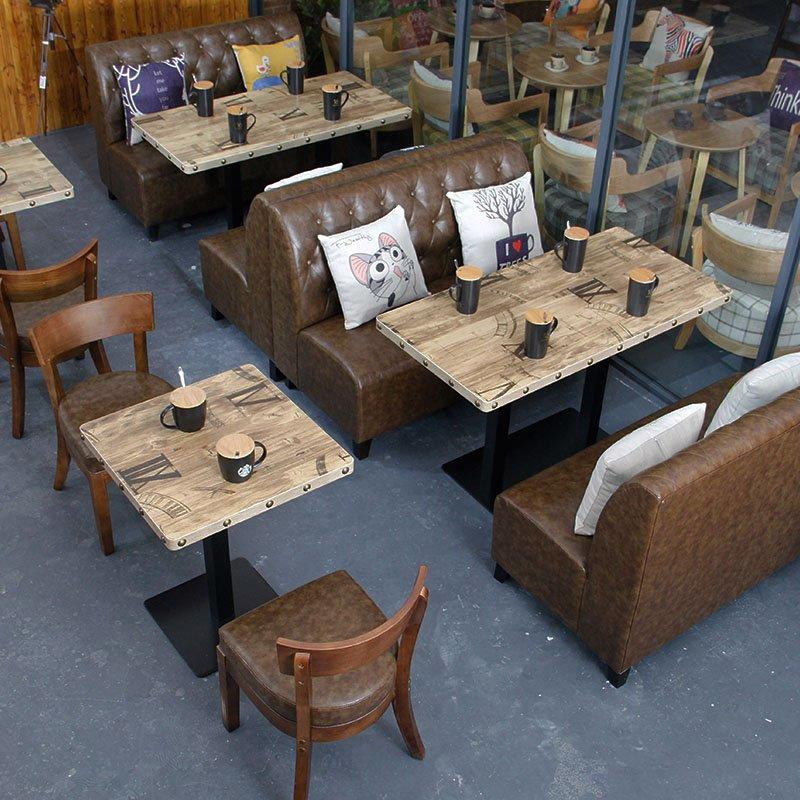Industrial Wooden Table And Dining Bench Seating SE001-47