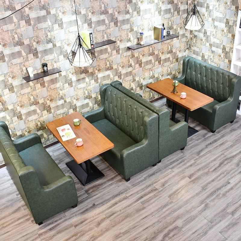 Contemporary Wooden Table Set With Diner Booths SE001-59
