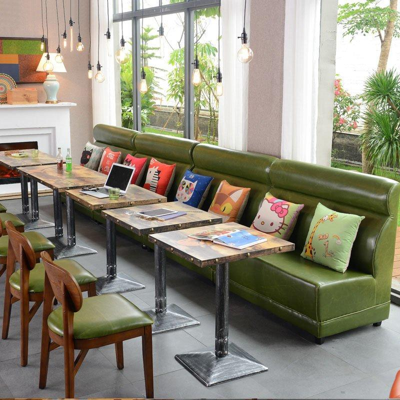 Contemporary Coffee Shop Table And Booths Sofa SE001-67