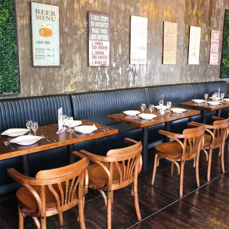 Rustic Solid Wood Table Chair And Dining Booths SE001-69