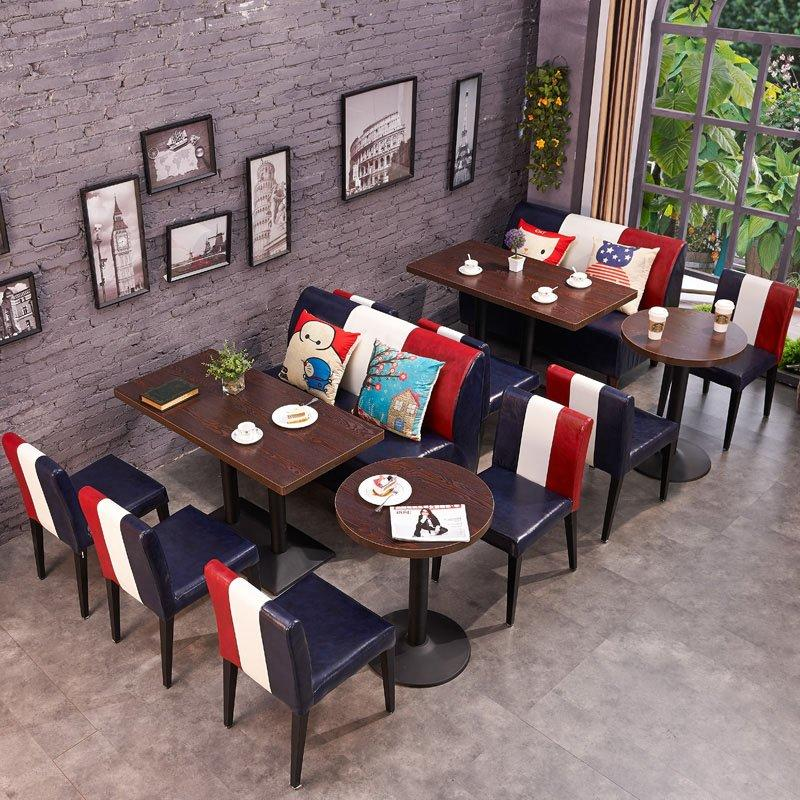 Industrial Dining Table Set With Booth Seating SE002-12