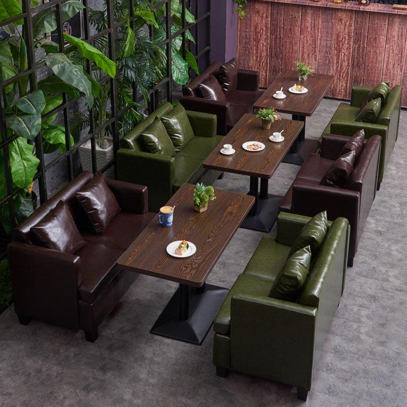 Retro Club Dining Table And Sofa With Cushion SE003-7