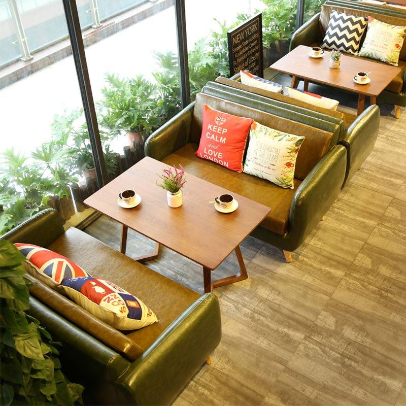 Commercial Wooden Dining Table With Sectional Sofas SE005-13
