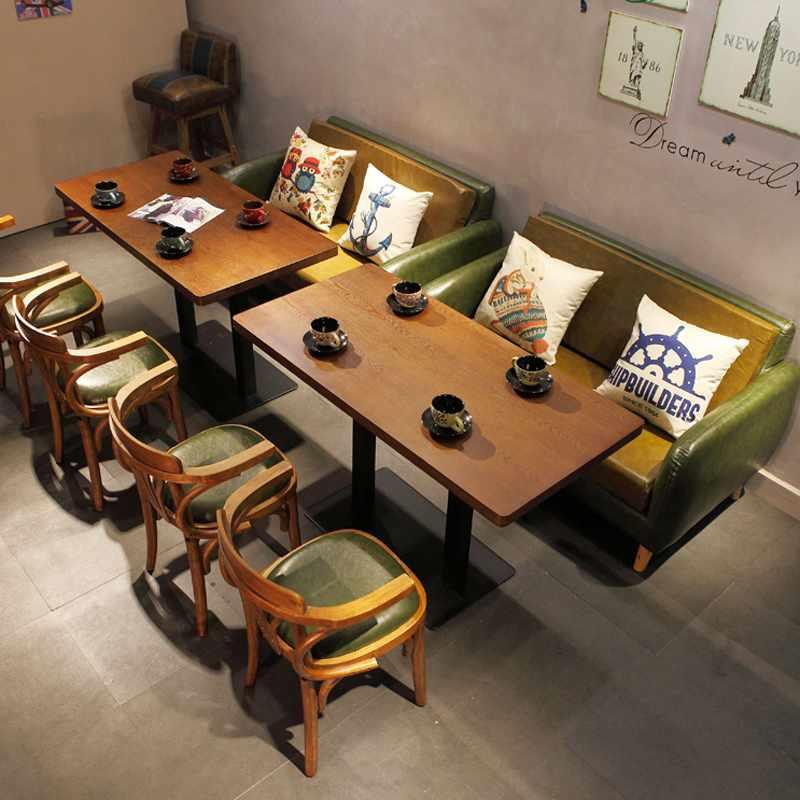 Retro Timber Table Chair And Dining Sofas SE005-14