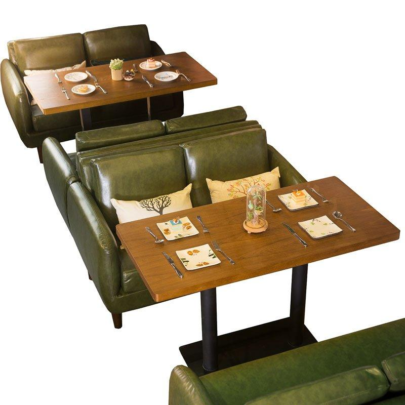 Retro Dining Table And Double Sofa Seating For Cafe SE005-16