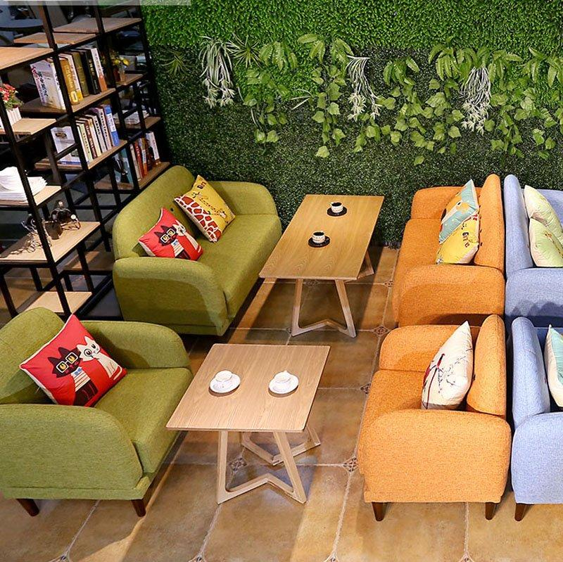 Contemporary Coffee Shop Tables And Fabric Sofas SE007-6