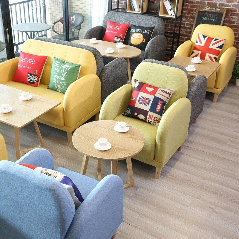 Modern Restaurant Furniture Wooden Tables Sofas SE007-10