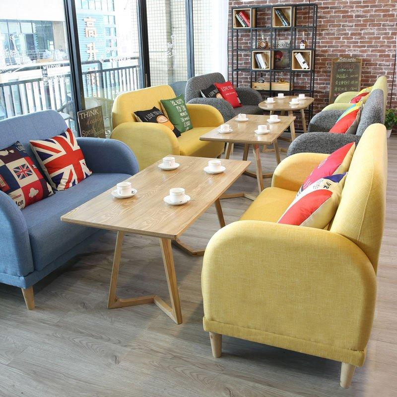 Modern Restaurant Furniture Wooden Tables Sofas SE007-10
