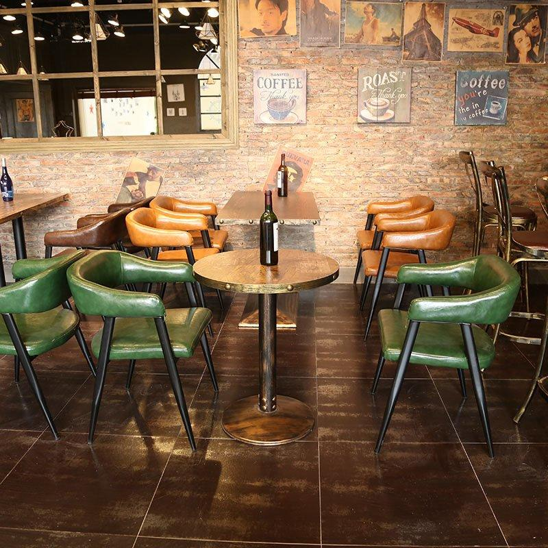 Retro Restaurant Metal Dining Table Chair And Sofa SE012-13