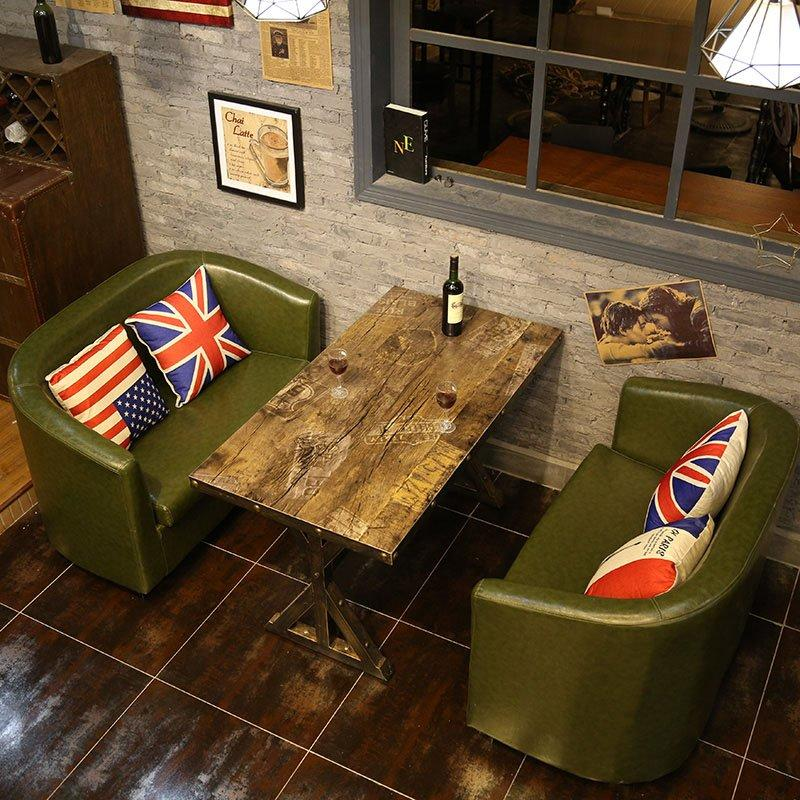 Rustic Club And Bar Dining Table Sofa SE012-14