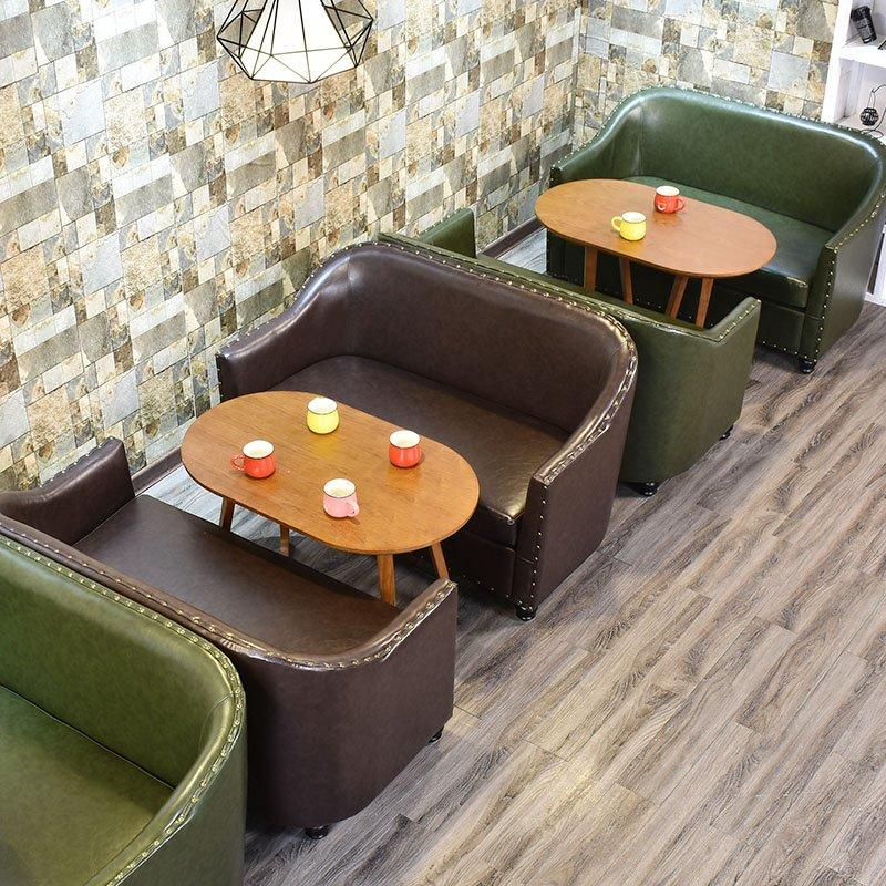 Contemporary Wooden Tea Table And Leather Couches SE012-29