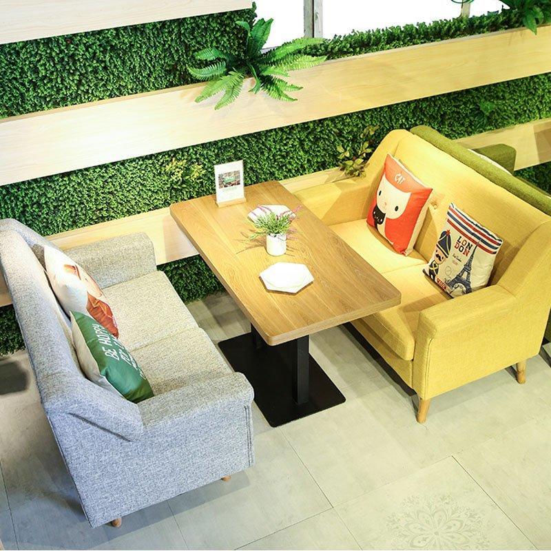 Custom Fabric Furniture Dining Table And Sofa Seat SE014-1